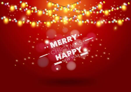 string: Christmas light vector background
