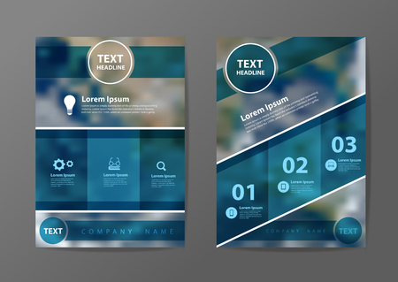 flyer background: Business brochure flyer design layout template in A4 size, With blurred earth globe background