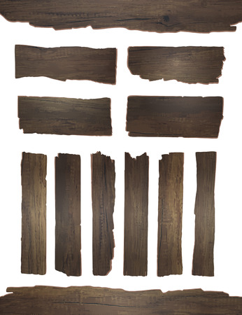pieces of furniture: Vector wood plank isolated on white background