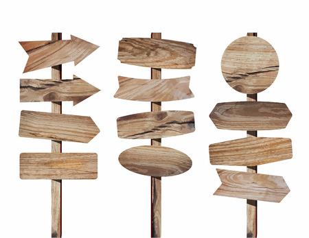 Holzschild isoliert auf weiß. Holz alte Planken unterzeichnen Holzbrett, (Bild Spur von Holz-Hintergrund) Vektor-Illustration Design