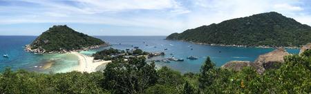Tropical beach panorama with Nang Yuan Island Viewpoint , Samui Surat Thani , Thailand