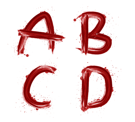 alphabetical: Hand drawn red watercolor alphabetical graphic font. Watercolor letters.watercolor alphabet. Illustration