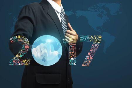 redes de mercadeo: 2017 iconos de las aplicaciones de negocio la innovación tecnológica nuevo año