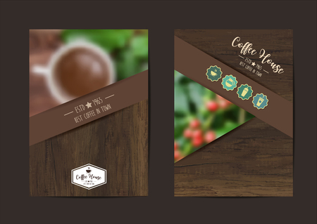 Coffee background geometric flyer cover business brochure vector design, Leaflet advertising abstract background, Modern poster magazine layout template, Annual report for presentation in A4 size
