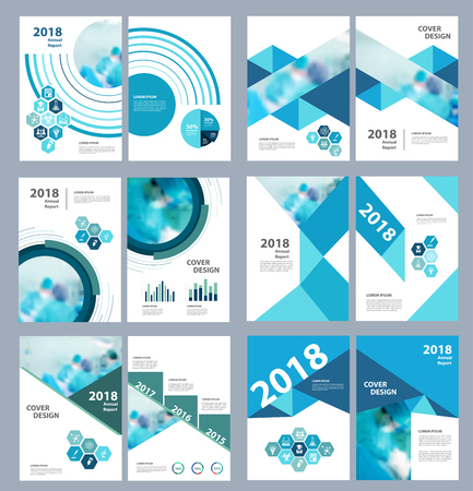 Medical brochure design template. Flyer with inline medicine icons, Modern infographic concept for annual report. Vector presentation blurred background with team surgeon work operating room, A4 size Imagens - 84410498