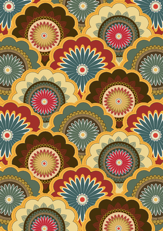 Paisley vector pattern Indian art of painting and for printing on fabric batik style background