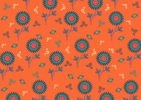 Paisley vector pattern Indian art for printing on fabric batik style background