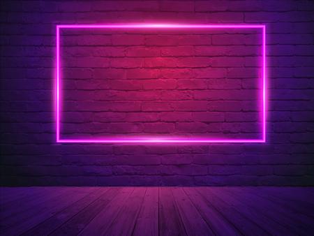 Vector brick wall room