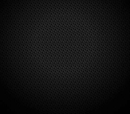 Vector Abstract black hexagonal background, 3D illustration in a4 size design Vetores