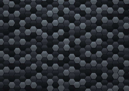 Vector Abstract black hexagonal background, 3D illustration in a4 size design Zdjęcie Seryjne - 158659906