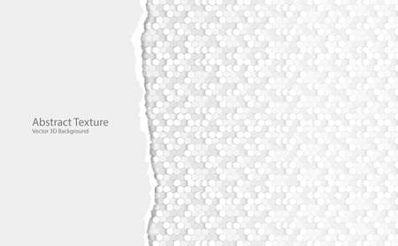 Vector Abstract black hexagonal background, 3D illustration in a4 size design