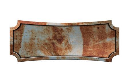 Grunge metal sign plate isolated on white background Zdjęcie Seryjne - 162687334