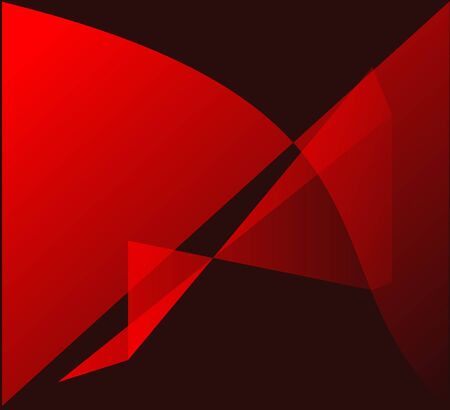 shadowy: Red abstract shapes on the black background Illustration