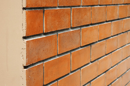 Orange brick wall horizontal photo