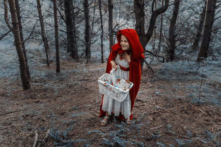 skirts: Children play in the Little Red Riding Hood and the wolf