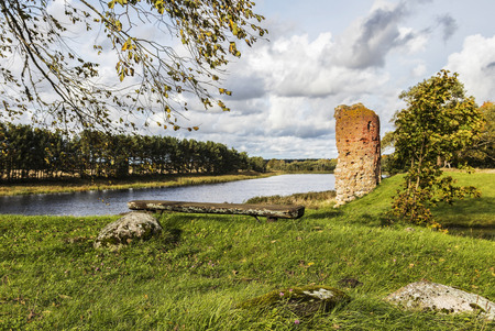Latvija.No Piltenes mighty castle ruins have remained so