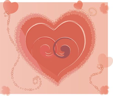 Hearts. Abstraction Stock Photo