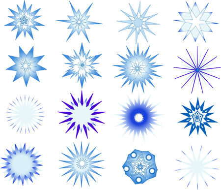 Beautiful snowflakes. Design elements by New Year and Christmas. Vector