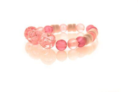 Children's bracelet on a hand. Macro Stock Photo - 3559874