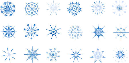 Beautiful snowflakes. Design elements by New Year and Christmas.
