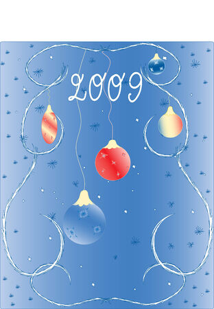 Winter New Years background 2009. Vector