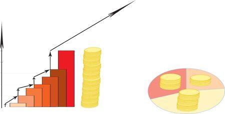 Development diagrammes. Profit growth photo