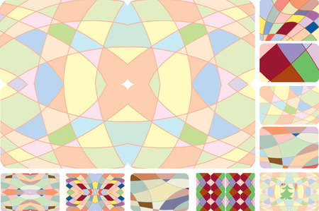 The collection of cheerful multi-coloured backgrounds Illustration
