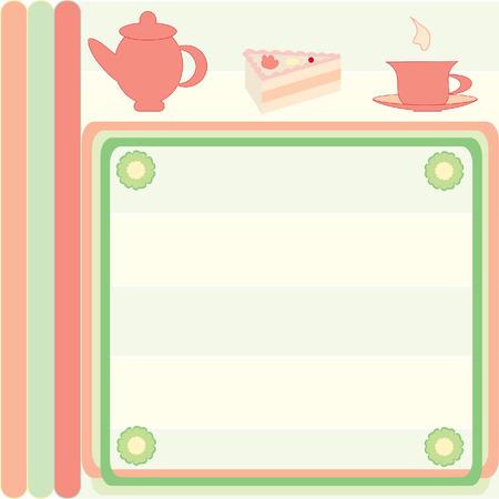 menu de postres: Tarjeta de men� el postre con ilustraciones