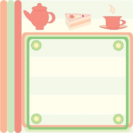 Card of the dessert menu with illustrations
