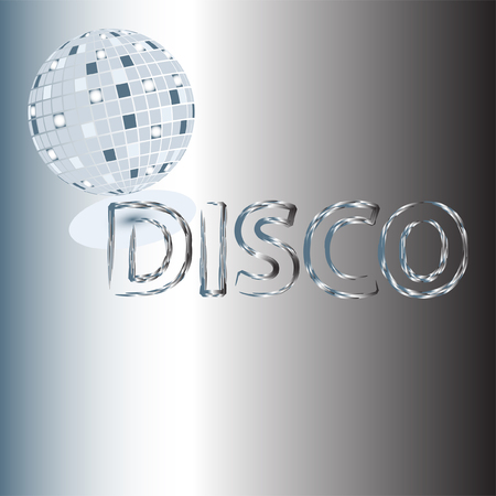 abstract disco background Illustration