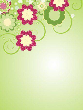 abstract flower vector background Illustration