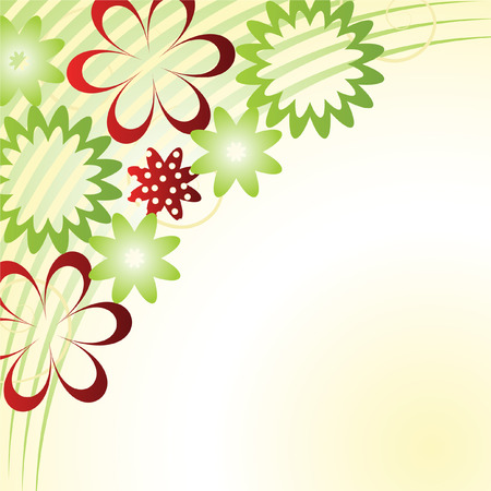 abstract flower vector background  Vector