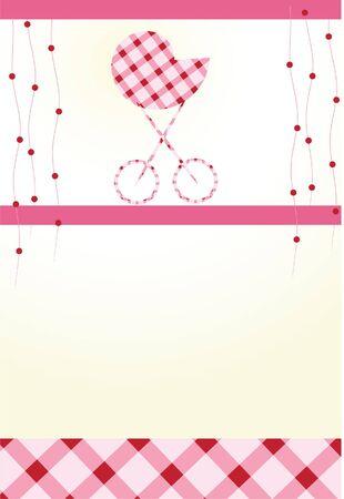 Celebratory card. With the newborn Stock Photo - 4903217