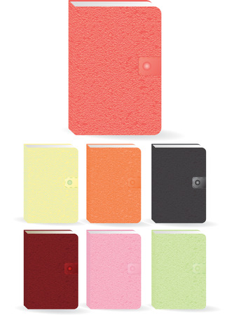 set of multicoloured organizers Stock Vector - 4903243