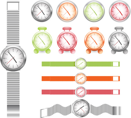 set of different watches Stock Vector - 4903242