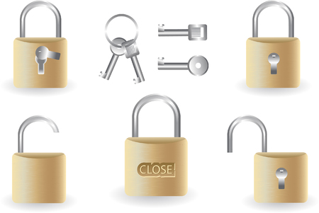 set of locks Stock Vector - 4903235