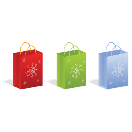 packets with snowflakes Vector