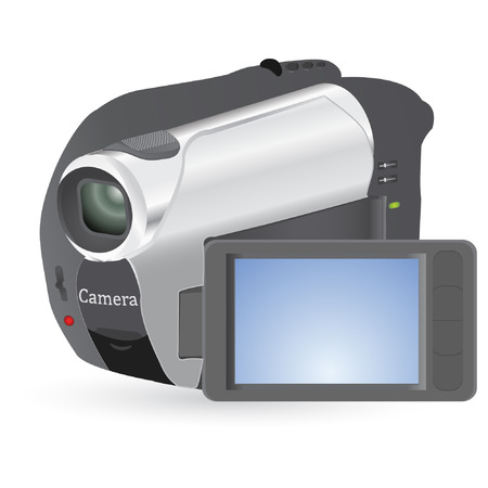 digital videocamera isolated on a white background Illustration