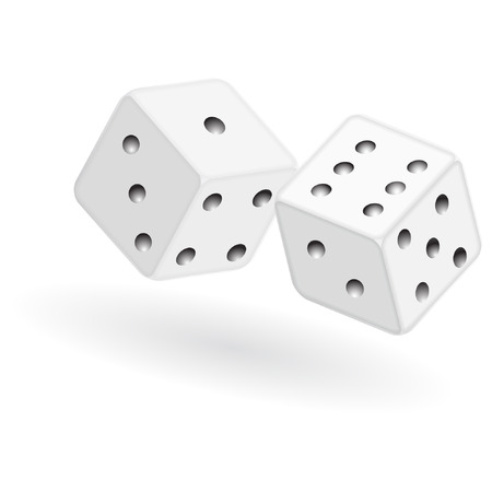 vector dice isolated on a white background Illustration
