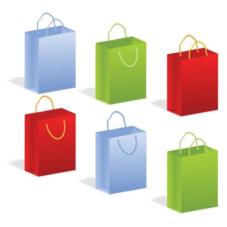 consommateurs: ensemble de paquets de vecteur Illustration