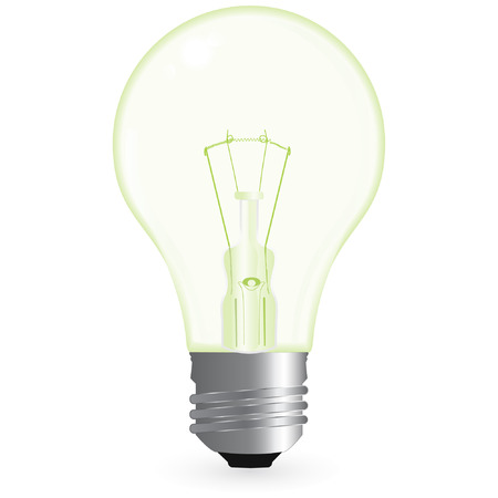 green bulb isolated on a white background