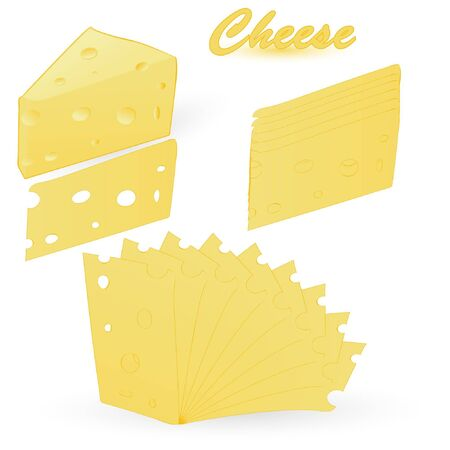 cheese isolated on an white background Vector