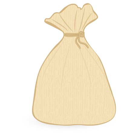 sack isolated on an white background Illustration