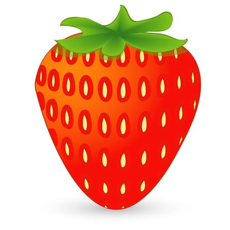 ripe strawberry isolated on an white background Illustration