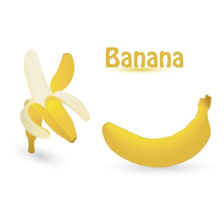 banana isolated on an white background