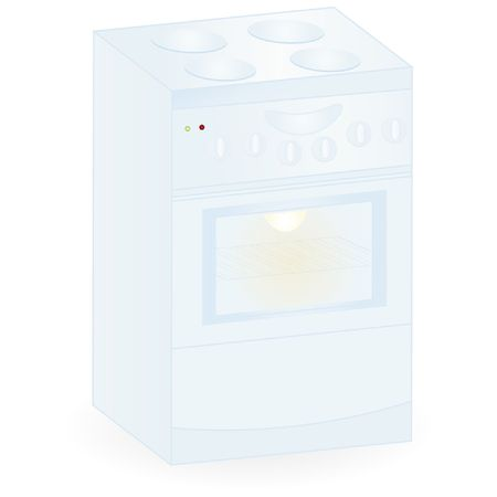 electric cooker isolated on an white background  Illustration