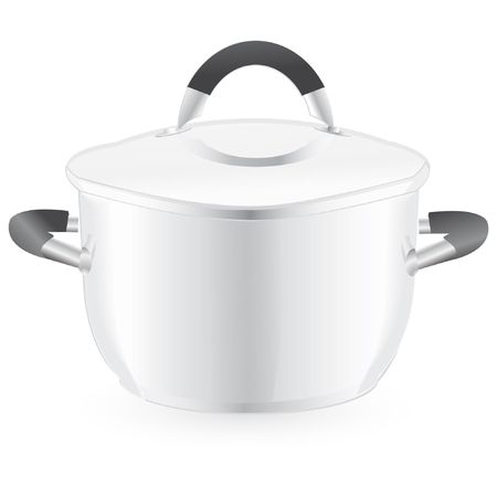 silver pan isolated on an white background