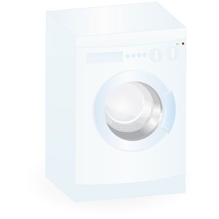 washing-mashine isolated on an white background  Illustration