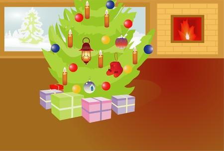 christmas room Stock Vector - 7948491