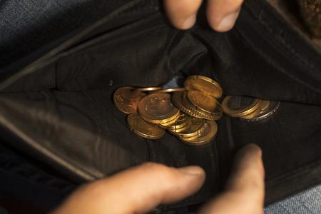 Money at the bottom wallet Фото со стока